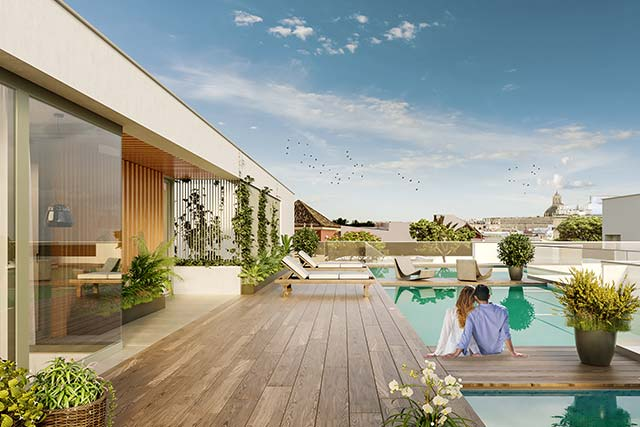 Áticos con piscina en Triana - Sevilla
