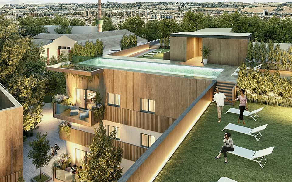 Fase 2 de la promoción de pisos en la Fábrica de Vidrios de Sevilla - Carretera Carmona