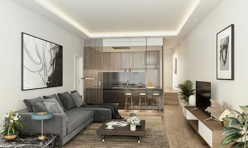 Imagen del salón de los apartamentos en Plaza de La Magdalena
