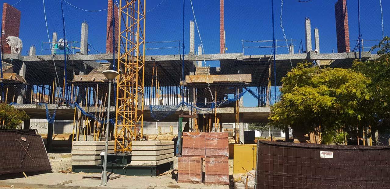 Avances de las obras de la promoción inmobiliaria ABU Mairena (Mairena del Aljarafe)