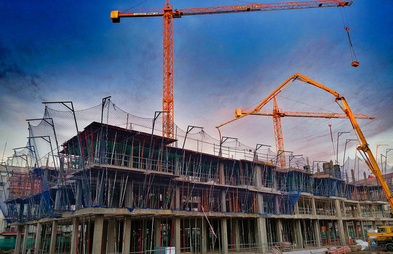 Obras en Triana de promociones de viviendas