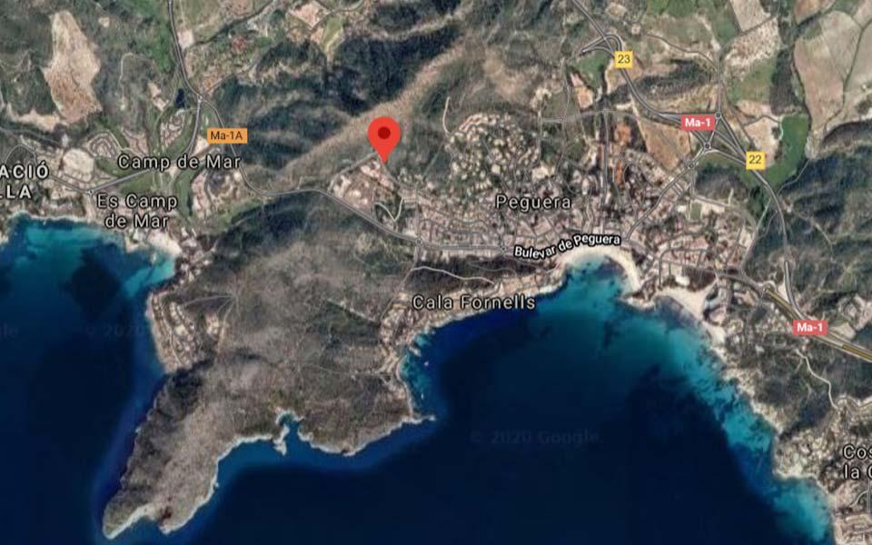 Mapa de viviendas unifamiliares en Camp de Mar - Mallorca