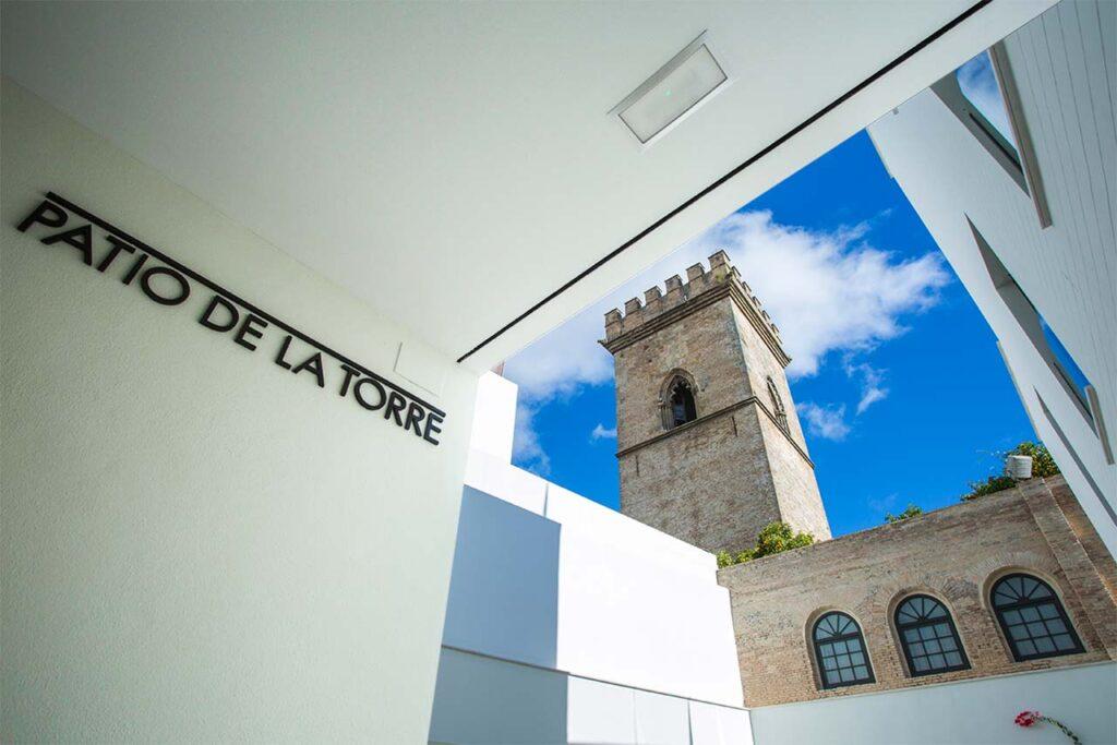 Patio de la Torre de la promoción de obra nueva en Santa Clara - Sevilla Centro