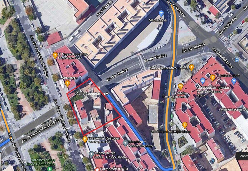 Mapa de la promoción de obra nueva en Cádiz Capital
