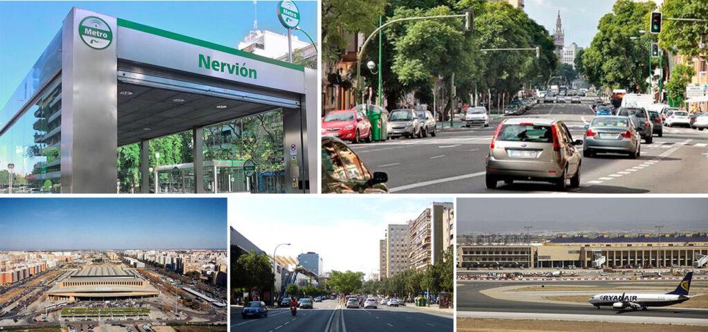 Transporte público y privado cerca de Nervión