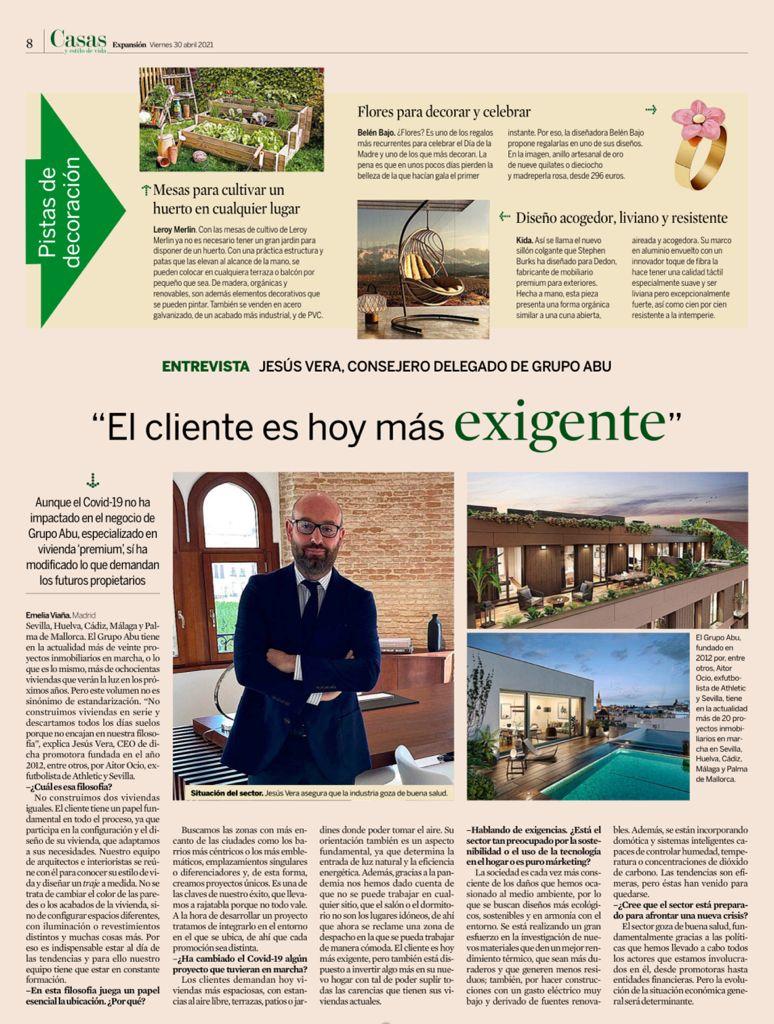 Entrevista Jesús Vera - Revista Expansión - Abril 2021