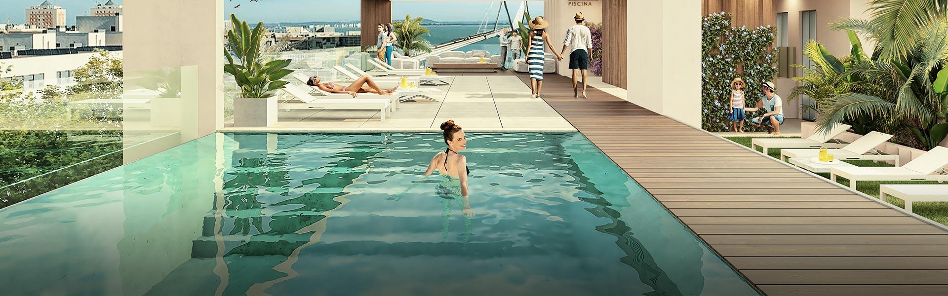 Viviendas con piscina comunitaria en Cádiz