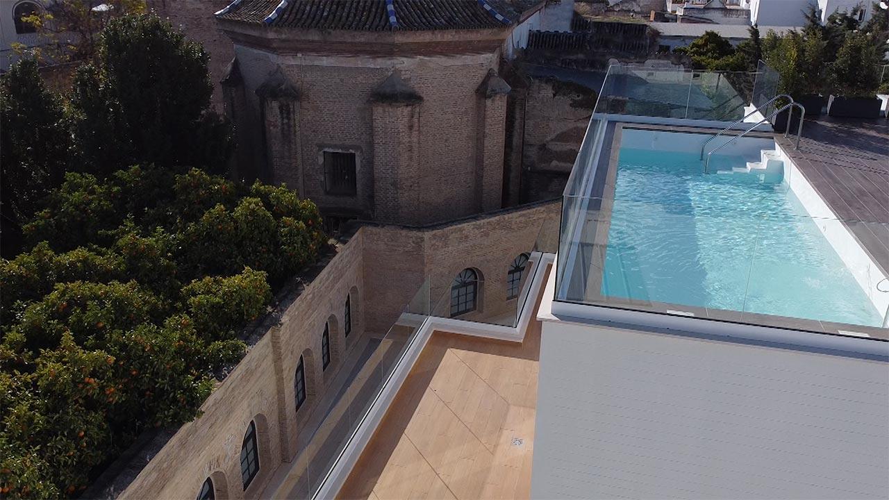 Convento de Santa Clara desde la promoción residencial de Grupo ABU