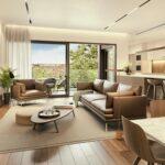 Salón personalizado de viviendas en el residencial de Nervión