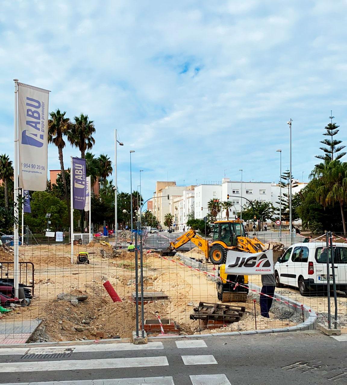 Obras de urbanización en Cádiz: ABU Las Cortes